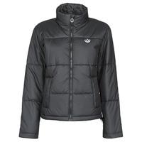 material Women Duffel coats adidas Originals SHORT PUFFER Black