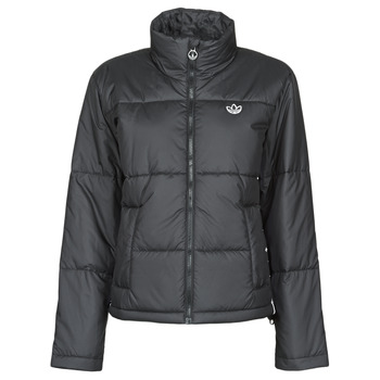 material Women Duffel coats adidas Originals SHORT PUFFER Black
