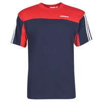 material Men short-sleeved t-shirts adidas Originals CLASSICS SS TEE Blue / Navy / Collegial