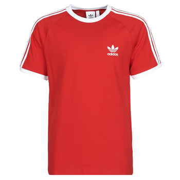 material Men short-sleeved t-shirts adidas Originals 3-STRIPES TEE Scarlet
