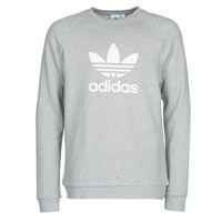 material Men sweaters adidas Originals TREFOIL CREW Grey / Medium