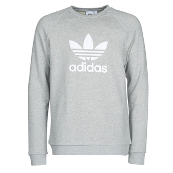 material Men sweaters adidas Originals TREFOIL CREW Grey