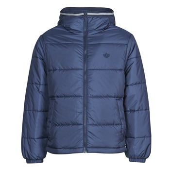 material Men Duffel coats adidas Originals PAD HOODED PUFF Blue / Navy / Collegial