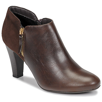 Shoes Women Ankle boots Moony Mood NOULETTE Brown