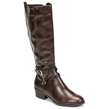 Shoes Women Boots Moony Mood NELLE Brown
