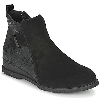 Shoes Women Mid boots Damart 63582 Black