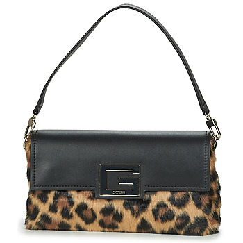 Bags Women Shoulder bags Guess BRIGHTSIDE SHOULDER BAG Leopard / Black