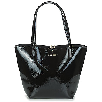 Bags Women Shopper bags Guess ALBY TOGGLE TOTE Black