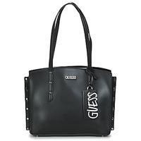 Bags Women Shopper bags Guess TIA GIRLFRIEND CARRYALL Black