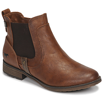 Shoes Women Mid boots Mustang  Brown