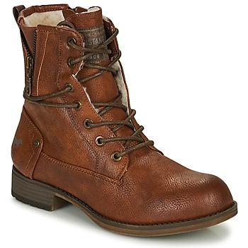 Shoes Women Mid boots Mustang  Cognac