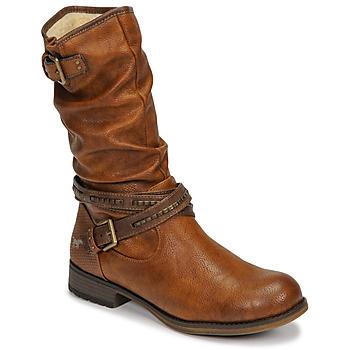 Shoes Women Boots Mustang  Cognac