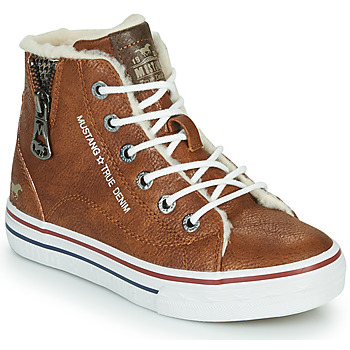 Shoes Children High top trainers Mustang 5056604 Cognac