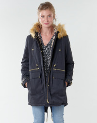 material Women Parkas Kaporal LOFTY Black