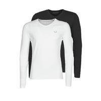 material Men Long sleeved shirts Kaporal VIFT Black-white