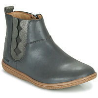 Shoes Girl Mid boots Kickers VETUDI Grey / Silver