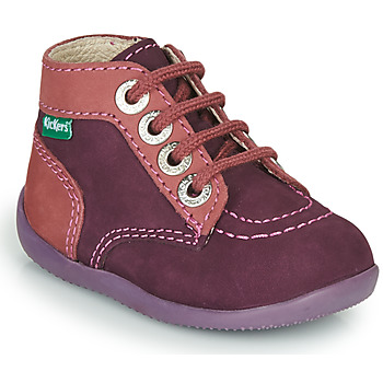Shoes Girl Mid boots Kickers BONZIP-2 Violet / Pink