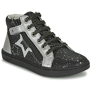 Shoes Girl High top trainers Kickers LILUSTAR Black / Silver