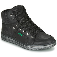 Shoes Girl High top trainers Kickers LOWELL Black