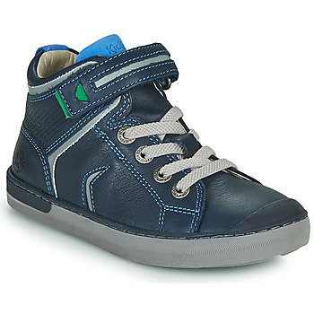 Shoes Boy High top trainers Kickers IRELAS Marine / Blue