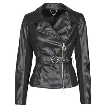 material Women Leather jackets / Imitation leather Marciano BIKER JACKET Black