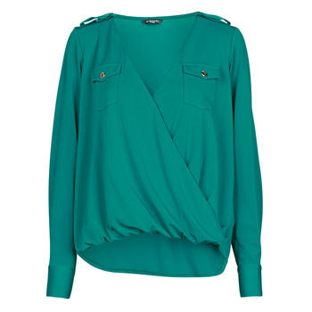 material Women Blouses Marciano SALLY CREPE TOP Green