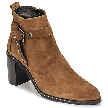 Shoes Women Ankle boots Philippe Morvan BERRYS V3 VEL CAMEL Brown