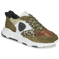 Shoes Women Low top trainers Philippe Morvan VIRGIL V2 SILKY KAKI Kaki / Gold / White