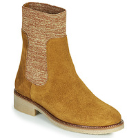 Shoes Women Mid boots Bensimon BOOTS CHAUSSETTE Brown