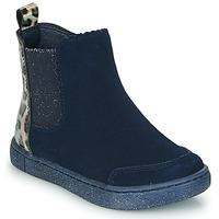 Shoes Girl Mid boots Mod'8 BLANOU Marine / Leopard