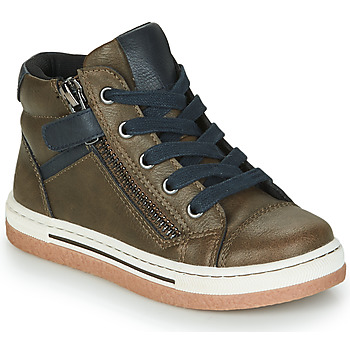 Shoes Boy High top trainers Mod'8 KYNATA Kaki / Marine