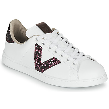 Shoes Women Low top trainers Victoria TENIS PIEL VEG White / Bordeaux