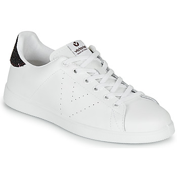 Shoes Women Low top trainers Victoria TENIS PIEL White / Bordeaux