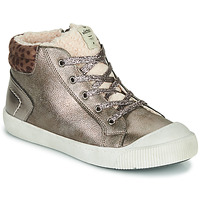 Shoes Girl High top trainers Victoria HUELLAS METAL Silver