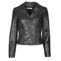 material Women Leather jackets / Imitation leather Naf Naf CAMILLA Black