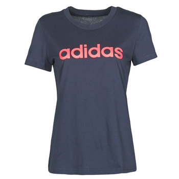 material Women short-sleeved t-shirts adidas Performance W E LIN SLIM T Ink