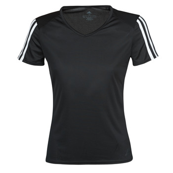 material Women short-sleeved t-shirts adidas Performance RUN IT TEE 3S W Black