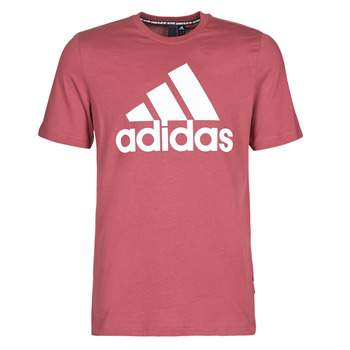 material Men short-sleeved t-shirts adidas Performance MH BOS Tee Red / Heritage