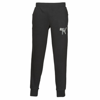 material Men Tracksuit bottoms Puma ATHLETICS PANTS FL CL Black