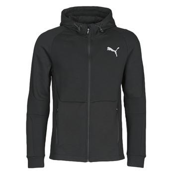 material Men Jackets Puma EVOSTRIPE FZ HOODY Black