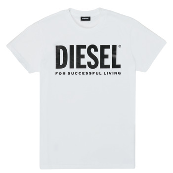 material Children short-sleeved t-shirts Diesel TJUSTLOGO White