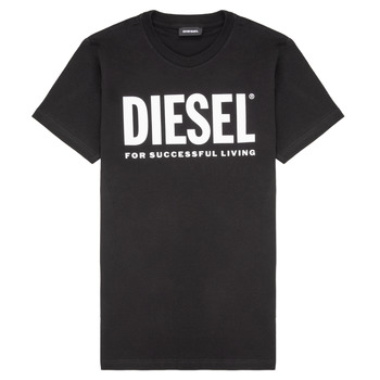 material Children short-sleeved t-shirts Diesel TJUSTLOGO Black