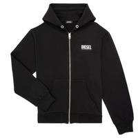 material Boy sweaters Diesel SGIRKHOODZIP LOGO Black