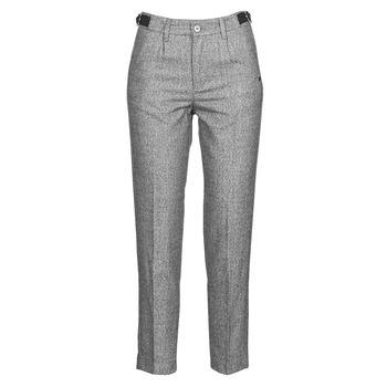 material Women 5-pocket trousers Freeman T.Porter SHELBY MOKKA Grey / Clear