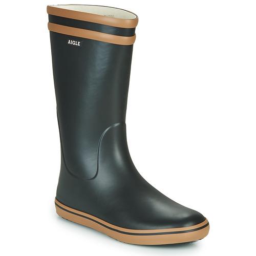 Shoes Women Wellington boots Aigle MALOUINE Black / Camel