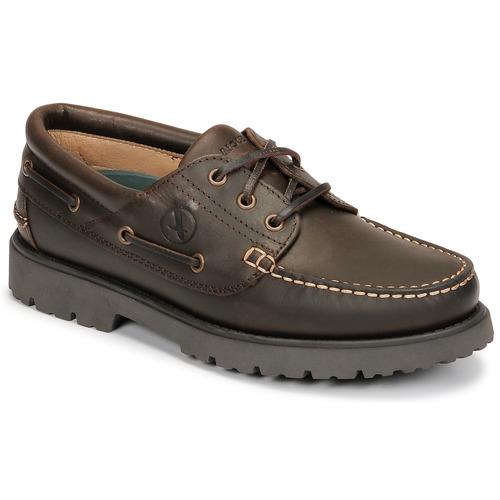 Shoes Men Boat shoes Aigle TARMAC Brown
