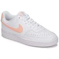 Shoes Women Low top trainers Nike COURT VISION LOW White / Pink