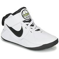 Shoes Boy Basketball shoes Nike TEAM HUSTLE D 9 PS White / Black