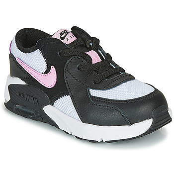 Shoes Girl Low top trainers Nike AIR MAX EXCEE TD Black / White / Pink