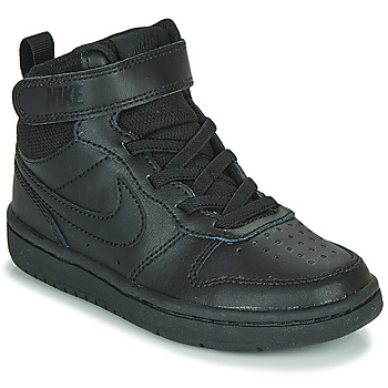 Shoes Children High top trainers Nike COURT BOROUGH MID 2 PS Black